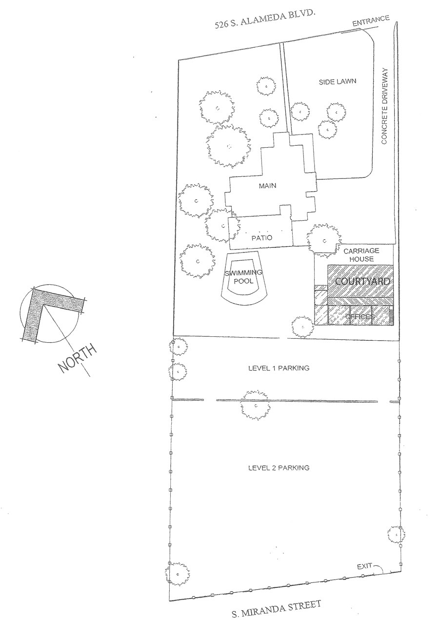 Property layout of Alameda House